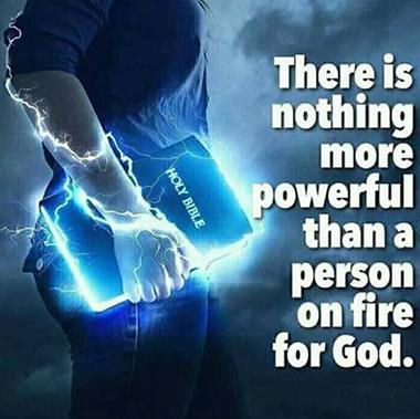 Man Carrying Bible-lightning blue image