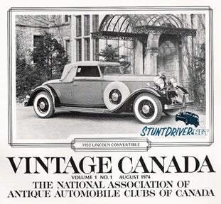 Vintage Canada Car Banner
