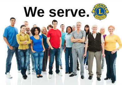 Lions Club we serve banner