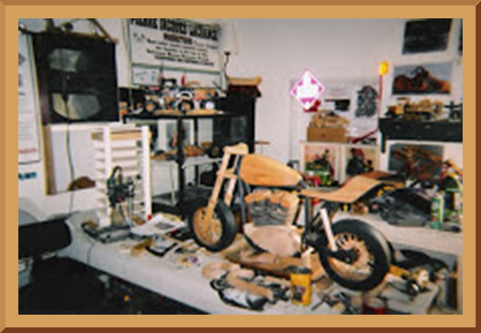 Pierre Lachance Wood Working Shop, Model Motorcycle