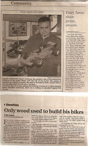 Pierre Lachance, wooden Indy race car-Chilliwack Times newspaper, 2000-2004