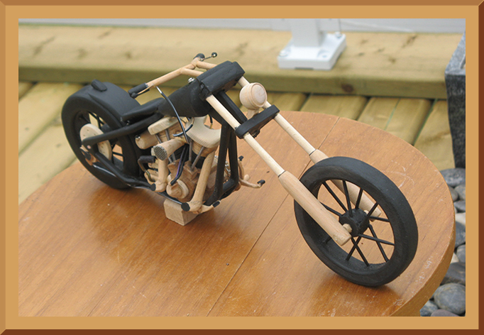 Wooden Chopper Motorcycle
