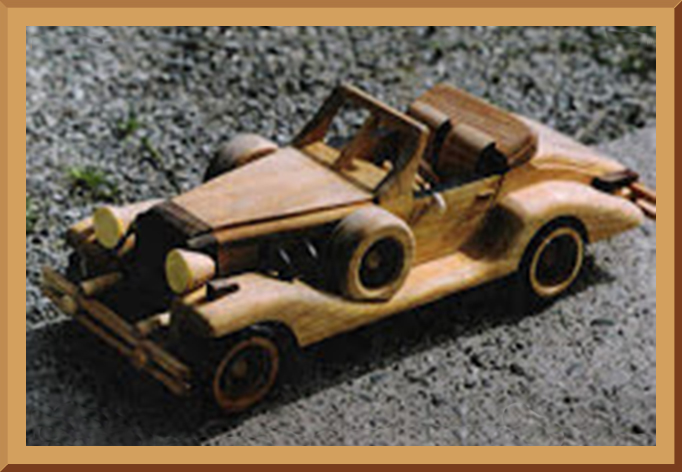 Wooden Excalibur Roadster Model