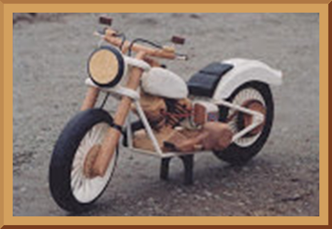 Wooden Model Motorcycle