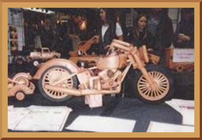 Wooden Model Vintage Motorcycle